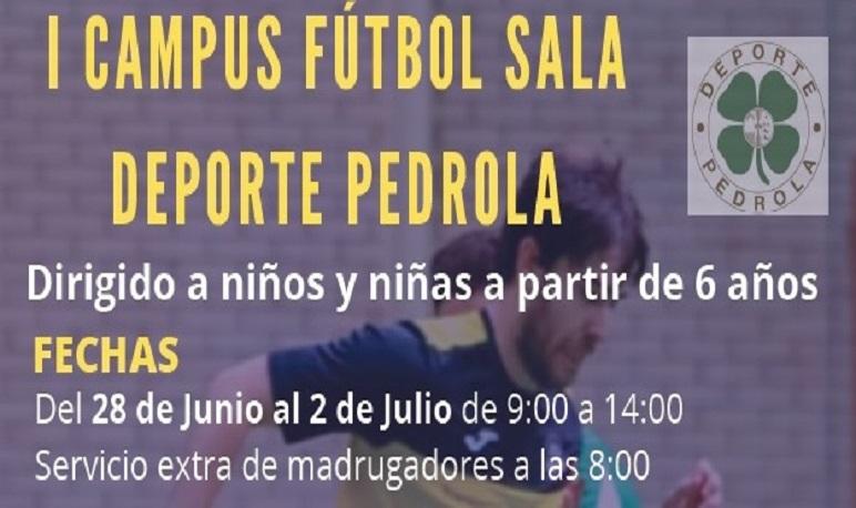 Campus de Fútbol Sala organizado por Deporte Pedrola